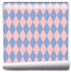 Fototapeta - Rose quartz and serenity rhombus backdrop. Vector illustration. Seamless pattern.