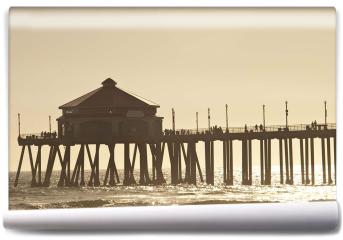 Fototapeta - Huntigton molo na plaży