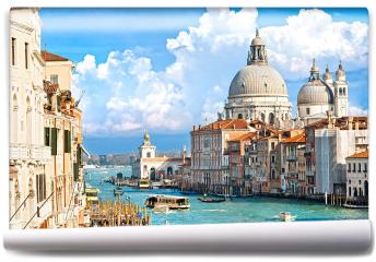 Fototapeta - Wenecja, widok na canal grande i bazylikę santa maria della salute