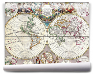Fototapeta - Stara mapa