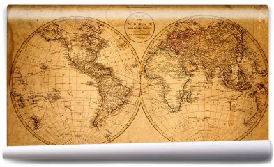 Fototapeta - Stara mapa 1799