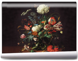 Fototapeta - Vase of flowers - Jan Davidsz de Hee