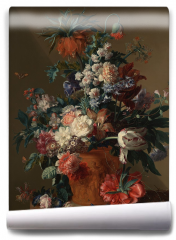 Fototapeta - Vase of flowers - Jan van Huysum