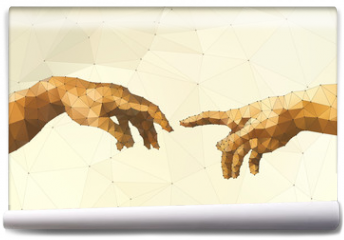 Fototapeta - Abstract God's hand vector illustration