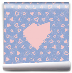 Fototapeta - Abstract seamless romance pattern with main heart