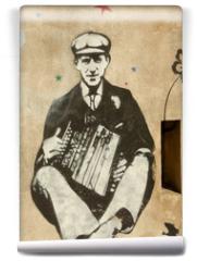 Fototapeta - accordéoniste
