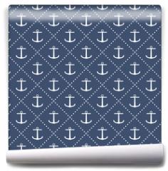 Fototapeta - Anchor seamless pattern
