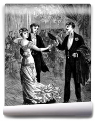 Fototapeta - Ball : Pair Dancing - 19th century