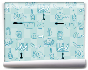 Fototapeta - Barbecue Party background
