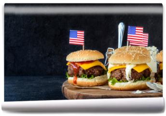 Fototapeta - Beef burgers