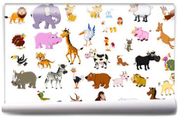 Fototapeta - big animal set for you design