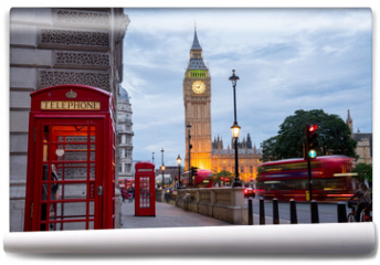 Fototapeta - Big BenBig Ben and Westminster abbey in London, England