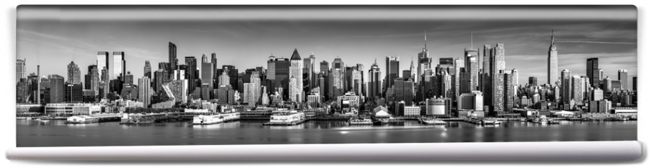 Fototapeta - Black and white New York City panorama