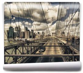 Fototapeta - Brooklyn Bridge view, New York City