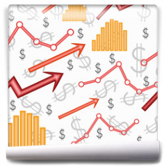 Fototapeta - Business diagram. Seamless vector wallpaper