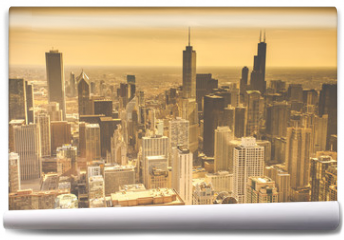 Fototapeta - Chicago Skyline Aerial View