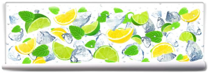 Fototapeta - citrus and ice