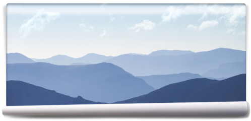 Fototapeta - Cold light of day over the Scottish Highlands.