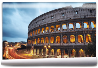 Fototapeta - Coliseum at night. Rome - Italy