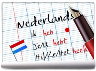 Fototapeta - Cours de néerlandais (conjugaison)