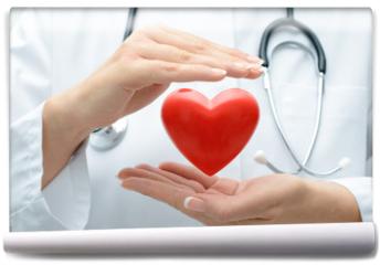 Fototapeta - Doctor holding heart