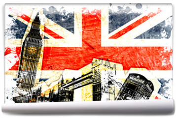 Fototapeta - drapeau anglais decoupe