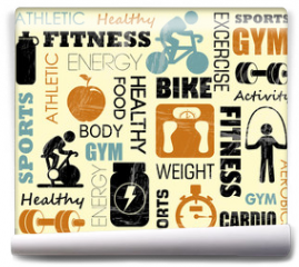 Fototapeta - fitness pattern
