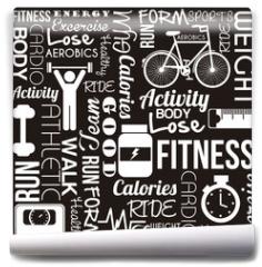 Fototapeta - fitness vector