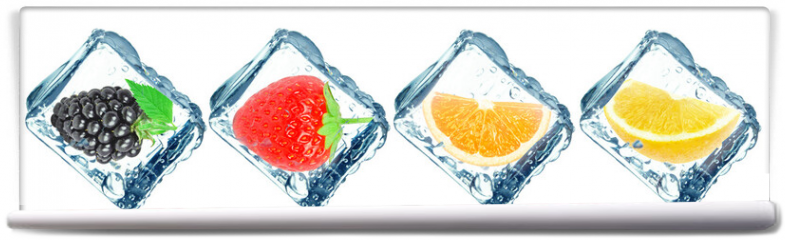 Fototapeta - frozen fruit