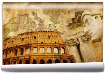 Fototapeta - great Roman empire - conceptual collage in retro style