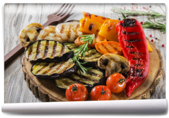 Fototapeta - grilled vegetables