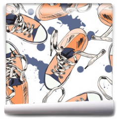 Fototapeta - Gumshoes seamless pattern