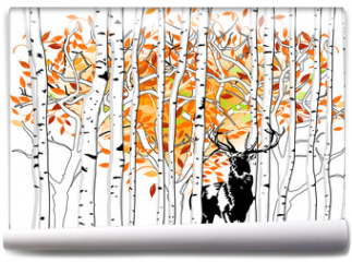 Fototapeta - Hirsch im Wald
