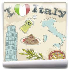 Fototapeta - Italy travel grunge card