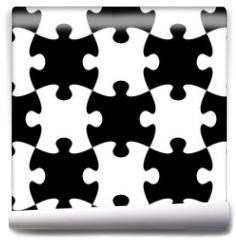 Fototapeta - Jigsaw puzzle seamless pattern