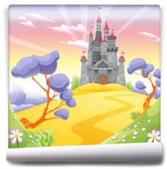 Fototapeta - Landscape with tower.