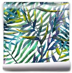 Fototapeta - leaves abstract pattern background wallpaper watercolor