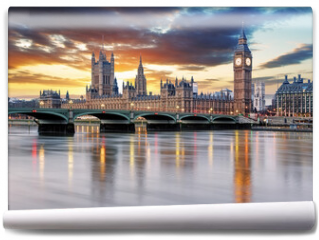 Fototapeta - London - Big ben and houses of parliament, UK