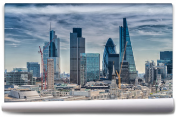 Fototapeta - London City. Modern skyline of business district