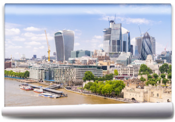 Fototapeta - London downtown with River Thames
