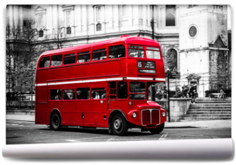 Fototapeta - London's iconic double decker bus.