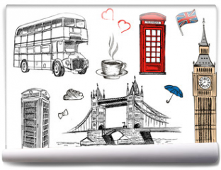 Fototapeta - London sketch