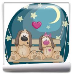 Fototapeta - Lovers Dogs