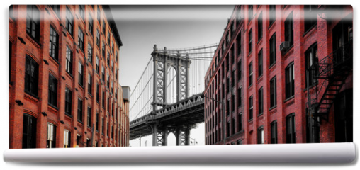 Fototapeta - Manhattan Bridge from Washington Street, Brooklyn