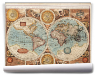 Fototapeta - Old map (1626)