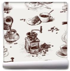Fototapeta - pattern of coffee