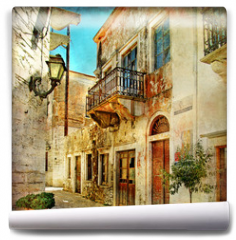 Fototapeta - pictorial old streets of Greece