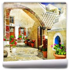 Fototapeta - pictorial streets of Santorini