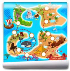 Fototapeta - Pirate Treasure Map