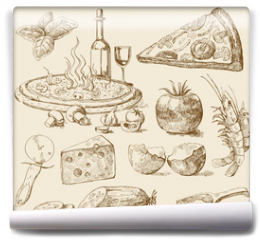 Fototapeta - pizza background